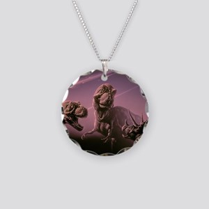 Death of dinosaurs Necklace Circle Charm