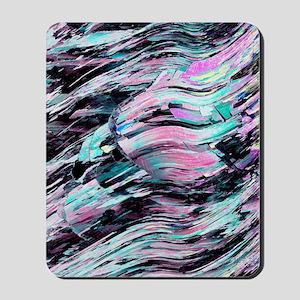 Deformed calcite crystal Mousepad