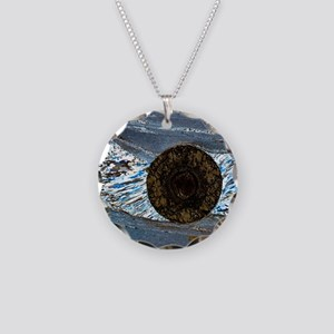 Deformation structure in sch Necklace Circle Charm