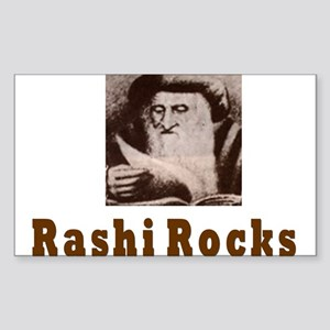 Rashi Rocks Rectangle Sticker