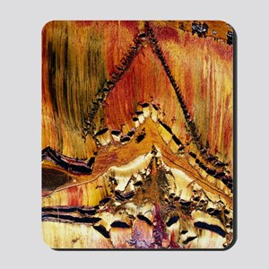 Deformation in tiger ironstone Mousepad
