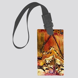 Deformation in tiger ironstone Large Luggage Tag
