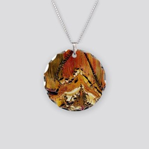 Deformation in tiger ironsto Necklace Circle Charm