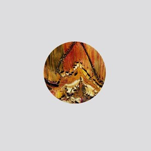 Deformation in tiger ironstone Mini Button