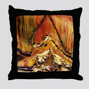 Deformation in tiger ironstone Throw Pillow