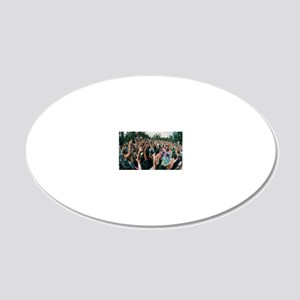 Deforestation protest, Hawai 20x12 Oval Wall Decal