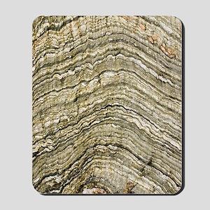 Folded rock strata Mousepad
