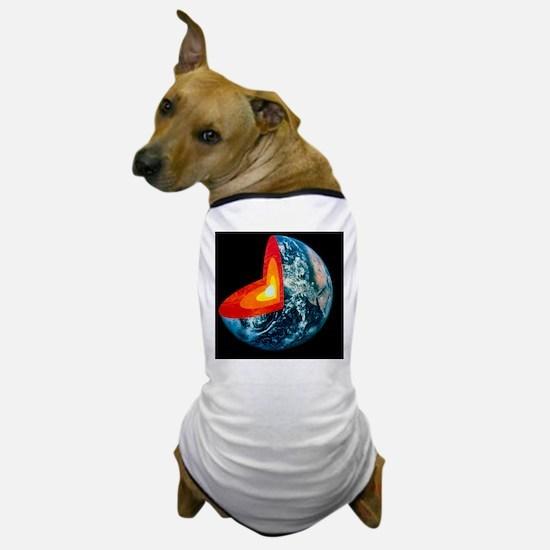 Cut-away of Earth showing interior str Dog T-Shirt