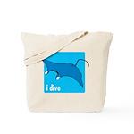 i dive - manta Tote Bag