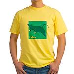 i dive - manta Yellow T-Shirt