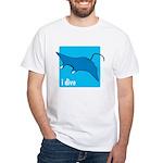 i dive - manta White T-Shirt