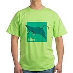i dive - manta Green T-Shirt