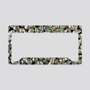 Cultured freshwater pearls License Plate Holder