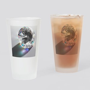 Cut Diamond with Colour Refractions Drinking Glass