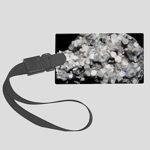Crystalline calcite Large Luggage Tag