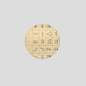 Cuneiform script Mini Button