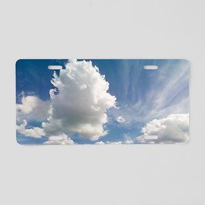 Cumulus clouds Aluminum License Plate