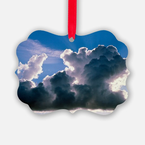 Cumulus cloud illuminated by the  Ornament