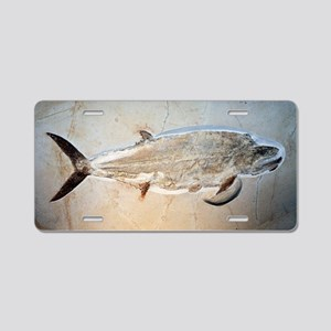 Fish fossil Aluminum License Plate