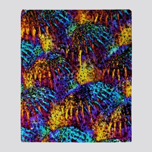 Fish scales, light micrograph Throw Blanket