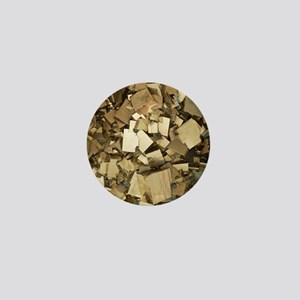 Cubic pyrite crystals Mini Button