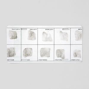 Fingerprint record card Aluminum License Plate