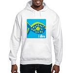 i dive - reef fish Hooded Sweatshirt