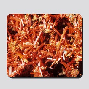 Crocoite mineral crystals Mousepad