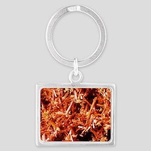 Crocoite mineral crystals Landscape Keychain
