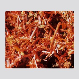 Crocoite mineral crystals Throw Blanket