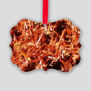 Crocoite mineral crystals Picture Ornament
