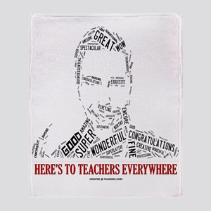 Great Male Teacher Throw Blanket