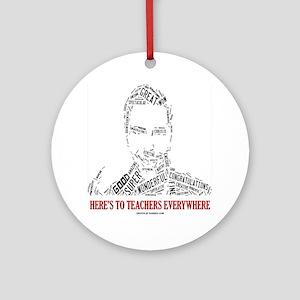 Great Male Teacher Round Ornament