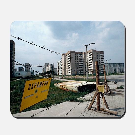 Evacuated town near Chernobyl, Ukraine Mousepad