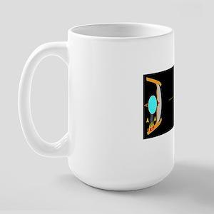 Eye lens and accommodation, artwork Large Mug