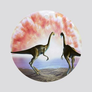 Extinction of the dinosaurs, artwor Round Ornament