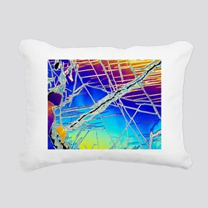Cordierite mineral Rectangular Canvas Pillow