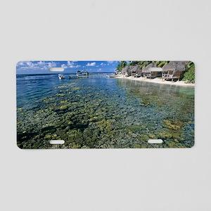 Coral platform Aluminum License Plate