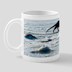 European otter on sea ice Mug
