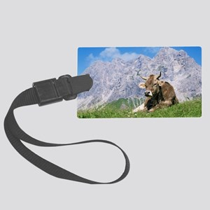 Cow Large Luggage Tag
