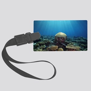 Coral garden Large Luggage Tag