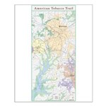 American Tobacco Trail System Map Small Poster
