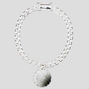 Entropy shown by dissipa Charm Bracelet, One Charm