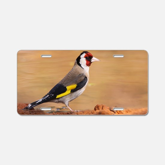European Goldfinch Aluminum License Plate