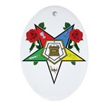 OES Roses for sisters Oval Ornament