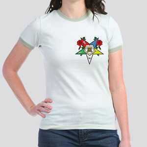 OES Roses for sisters Jr. Ringer T-Shirt