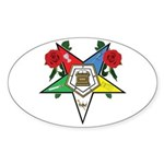 OES Roses for sisters Oval Sticker