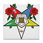 OES Roses for sisters Tile Coaster