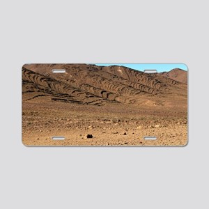 Erosion patterns in sandsto Aluminum License Plate