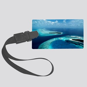 Coral islands Large Luggage Tag